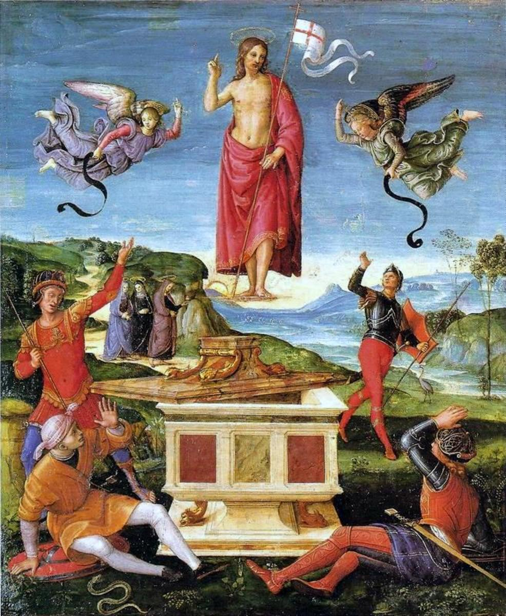 The Resurrection of Jesus Christ by Raphael 1502.