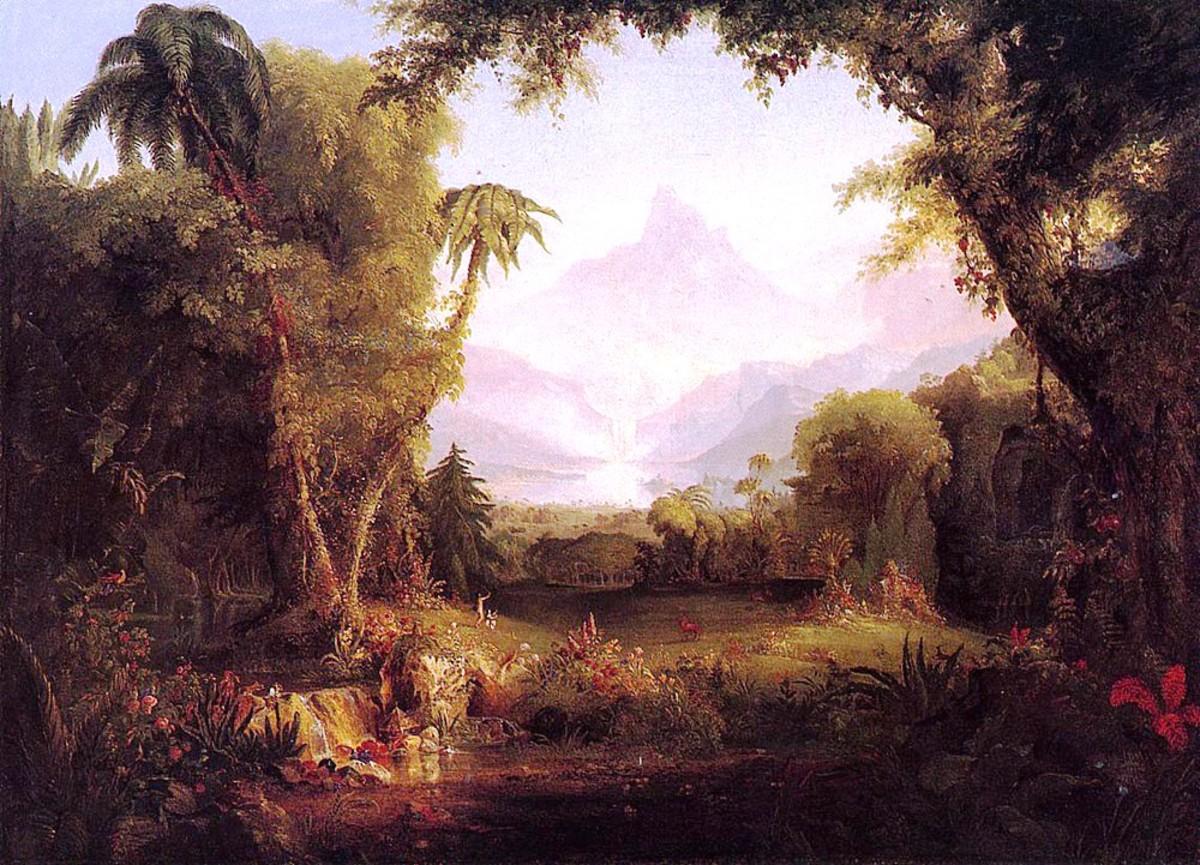 The Garden of Eden by Thomas Cole 1828