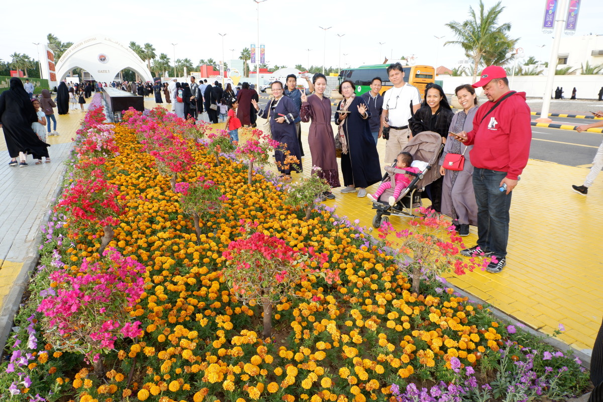 Our group who visited the famous Flowers Festival.  #YanbuFlowersFestival2019