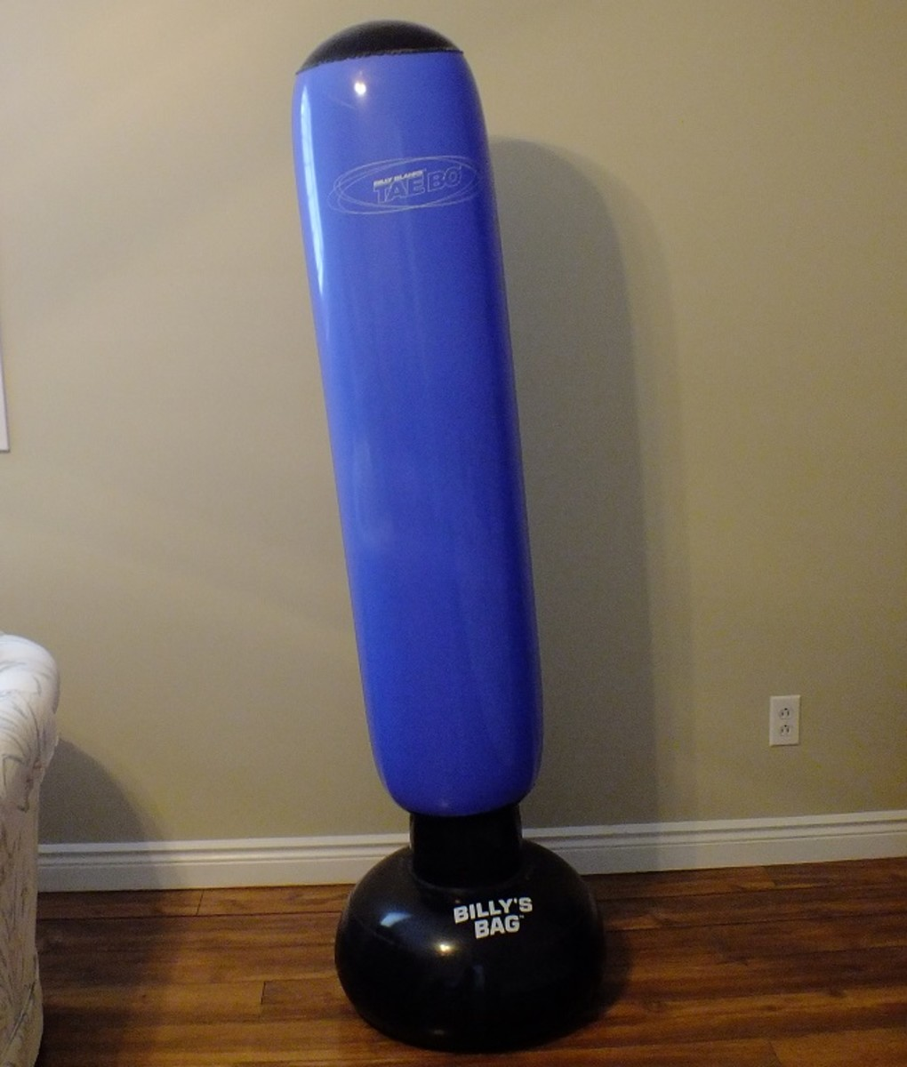 My inflatable punching bag.