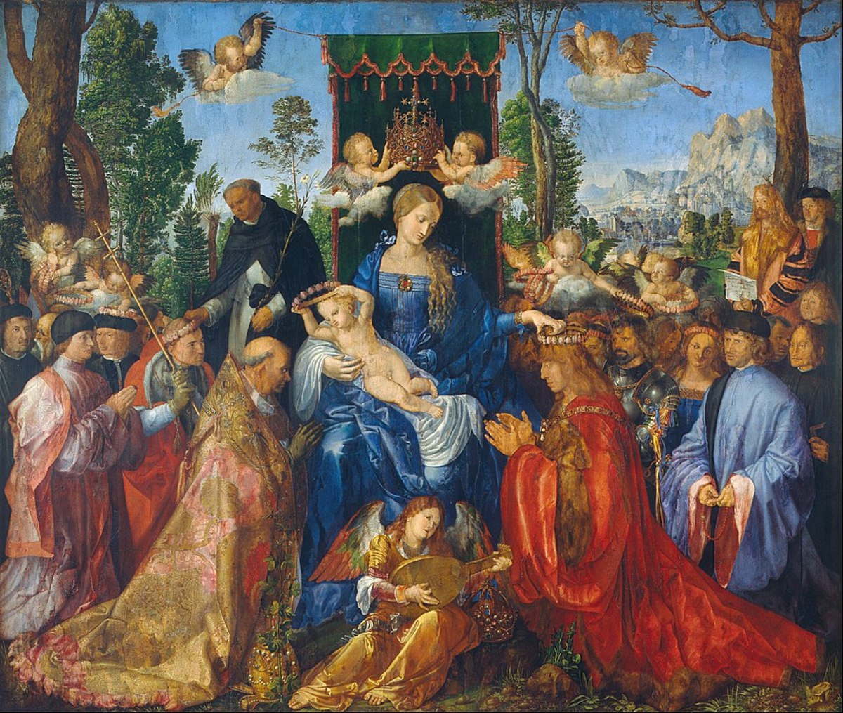Madonna of the Rose Garlands