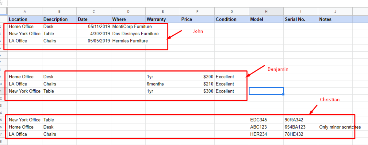 How to Combine Rows in Google Spreadsheet