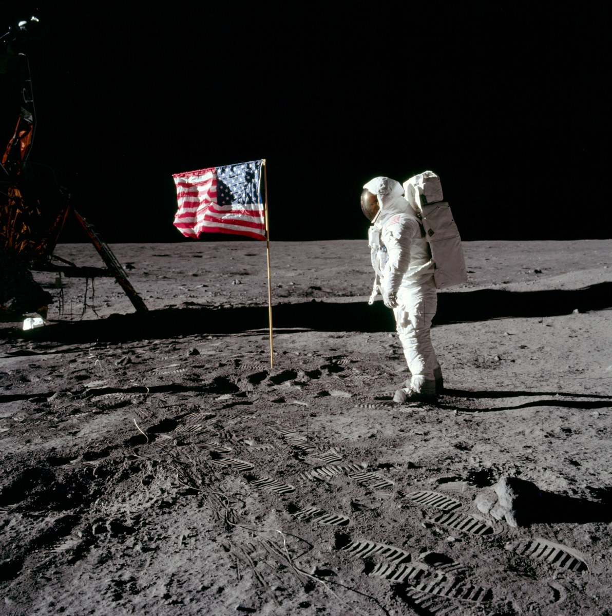 The first man to land on moon.