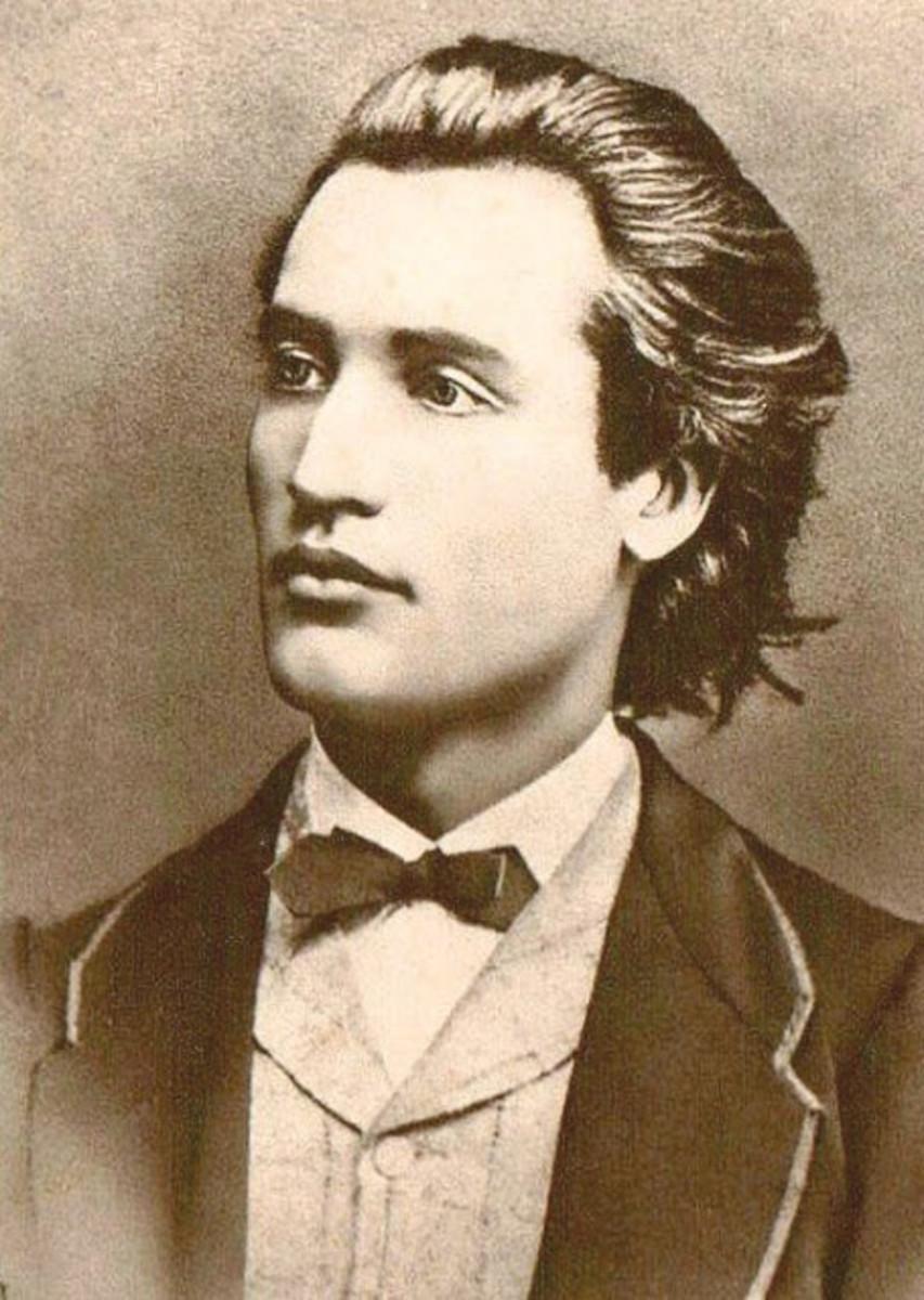 Mihai Eminescu: Portrait by Jan Tomas circa 1869