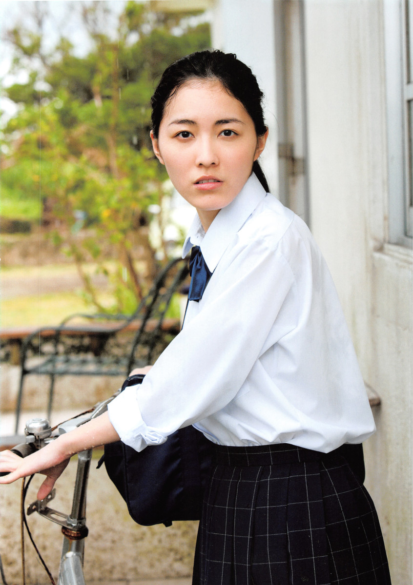Is Jurina Matsui about to ride a bicycle?