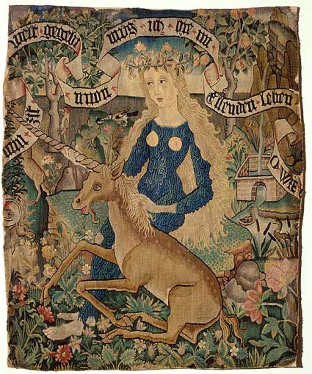 Wild Woman with Unicorn
