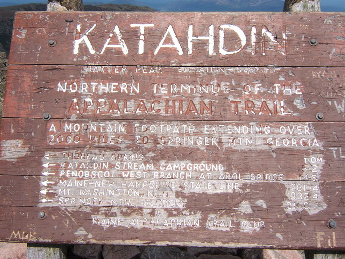 The Sign at the Northern Terminus of the Appalachian Trail