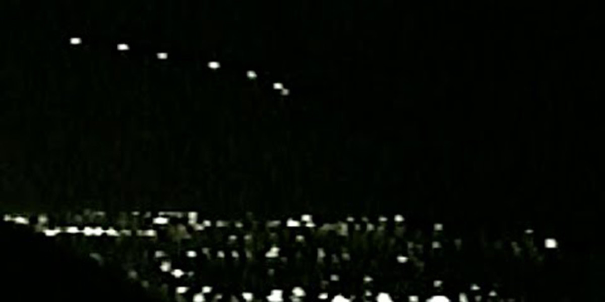 Photo of the Phoenix lights.