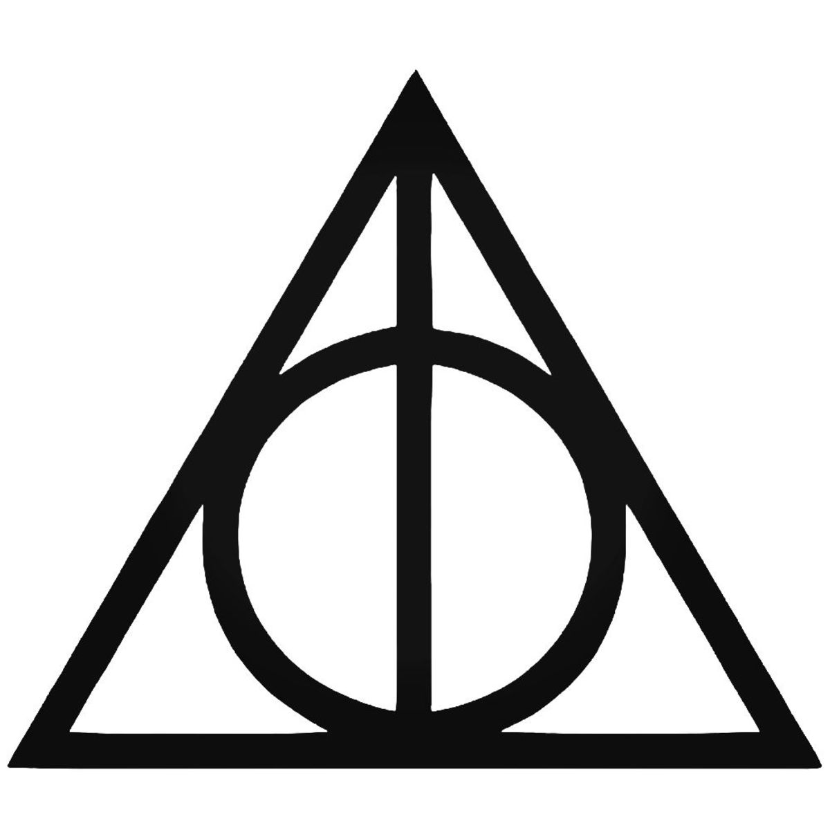 The symbol of the three Hallows.