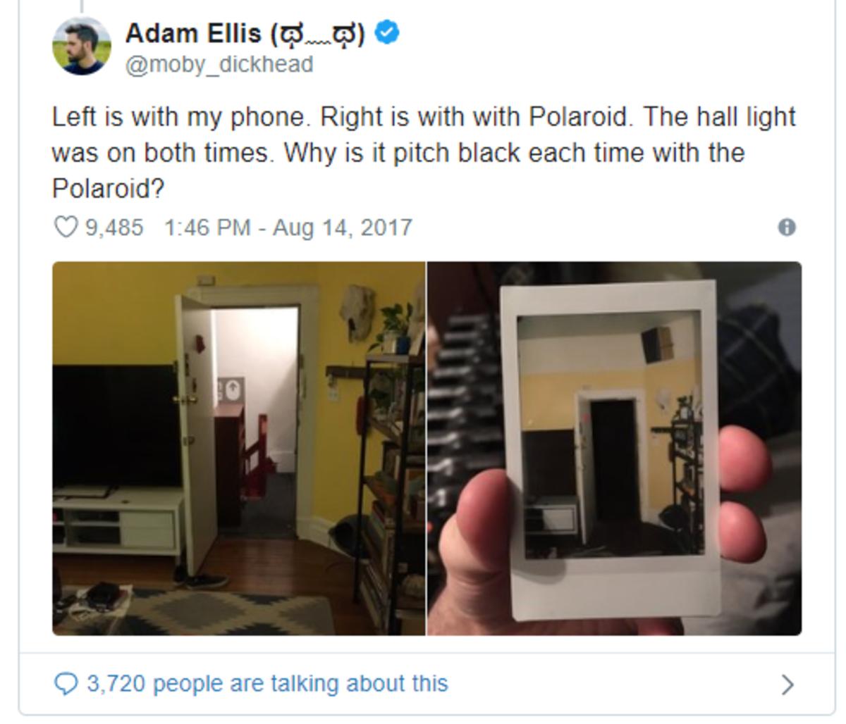 The hallway just turned black.