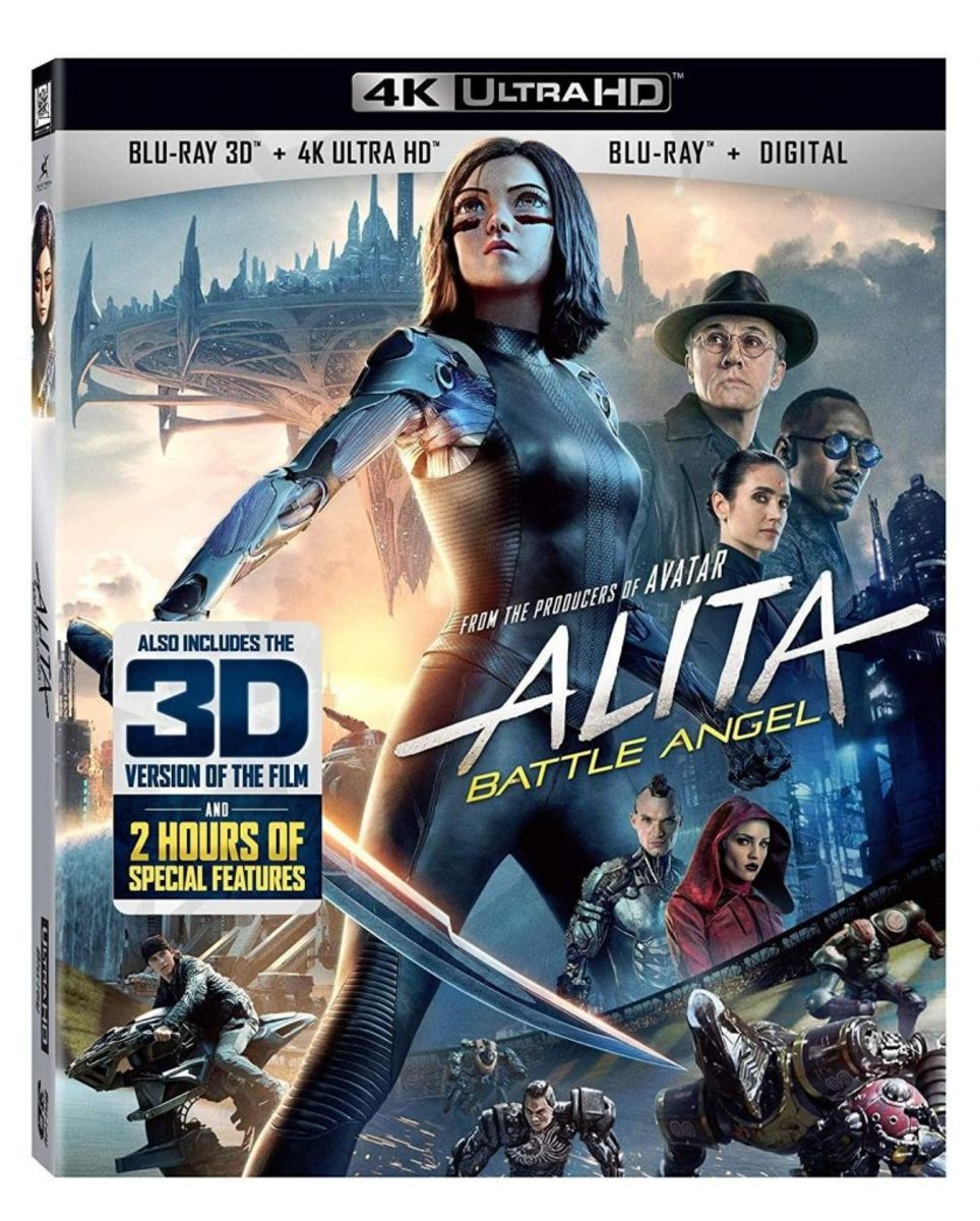 Alita: Battle Angel 4K Blu-Ray cover.