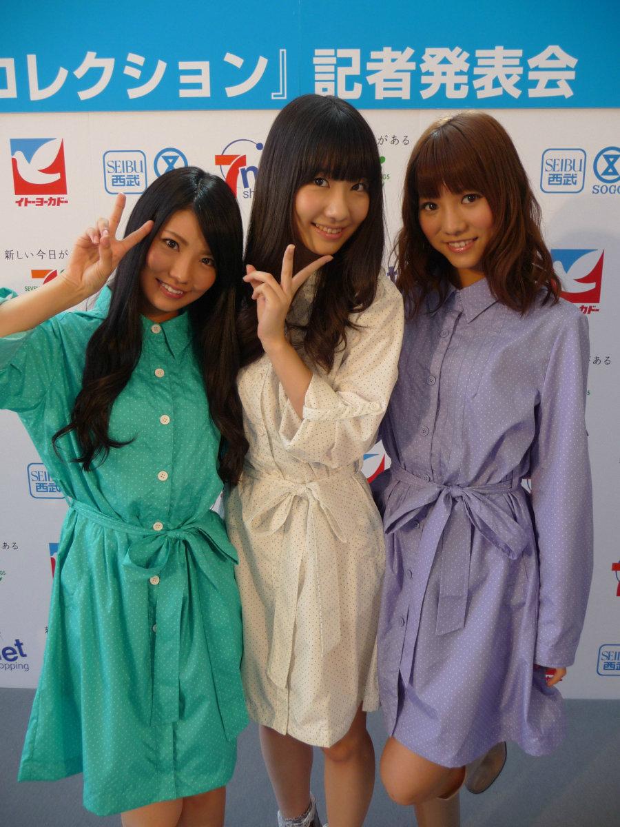 From left to right: Asuka Kuramochi, Yuki Kashiwagi, and the lovely Aki Takajo!