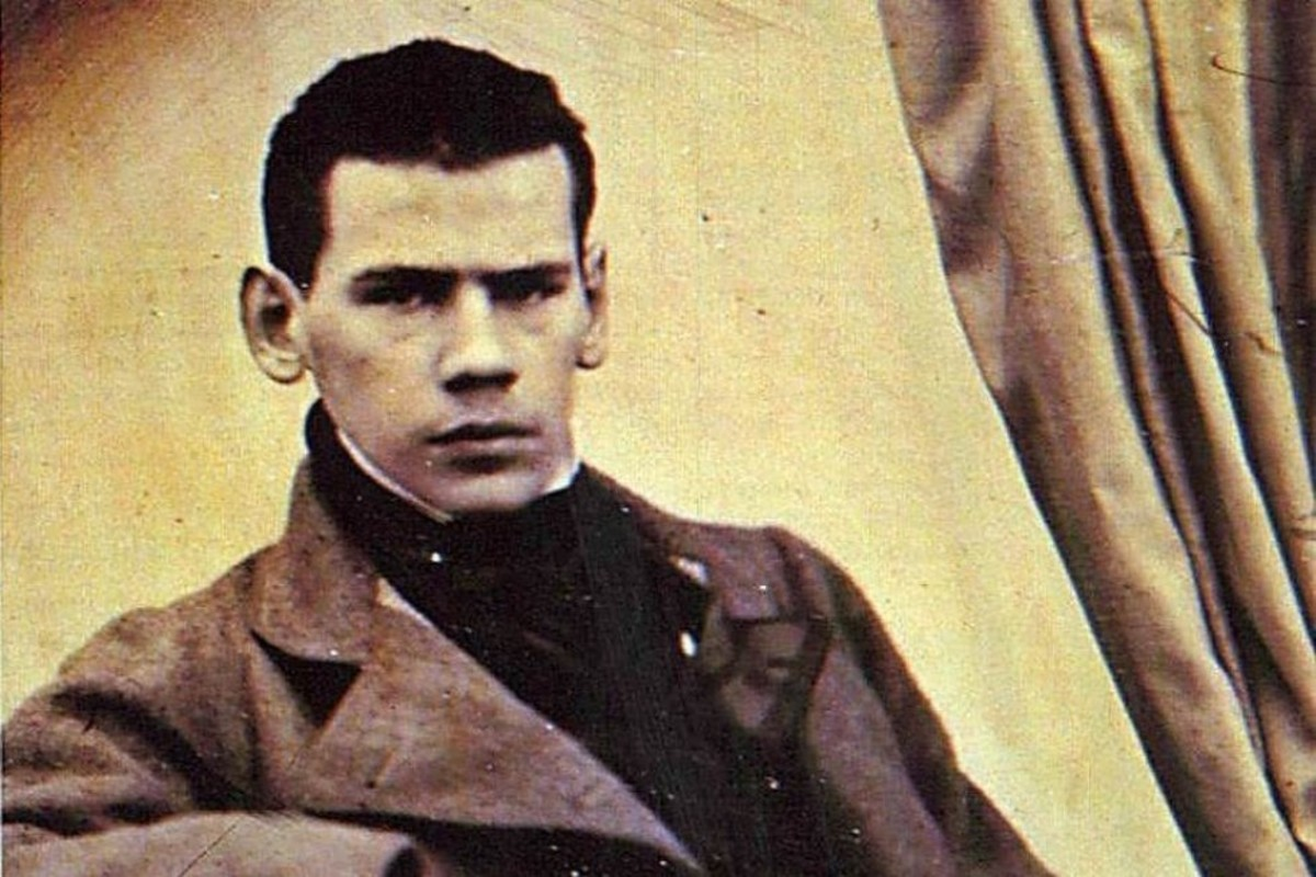 Leo Tolstoy during his student years at Kazan University in Russia. He studied law and oriental languages at the university, but left the studies in midway.
