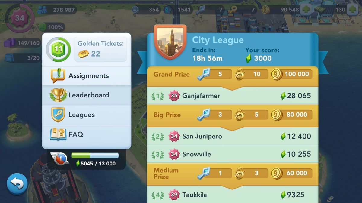 The Contest of Mayors (SimCity BuildIt)