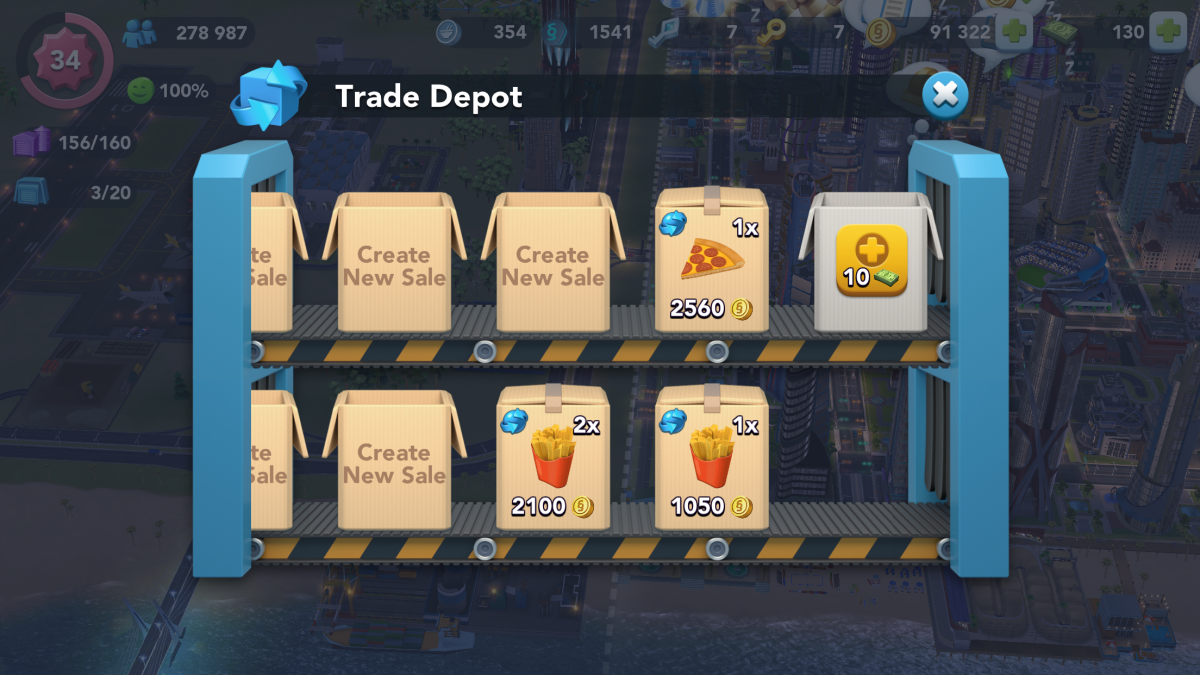 To earn Simoleons quickly, buy high-priced items from the Global TD and then immediately sell them. For best results, buy only quick-selling items.