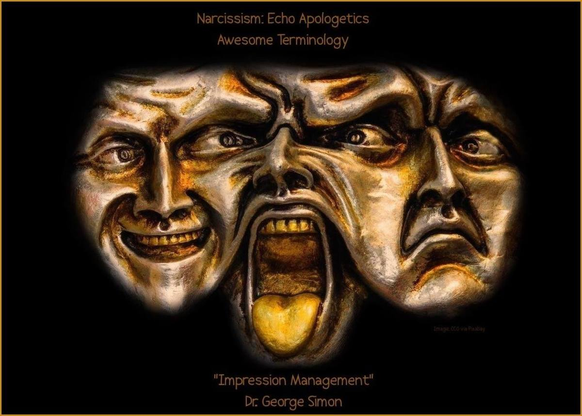 """""""Impression Management"""" - Dr. George Simon in the """"Awesome Terminology"""" Topic of Narcissism: Echo Apologetics. Scoffers seek to control impressions, both of the victim and of themselves."""