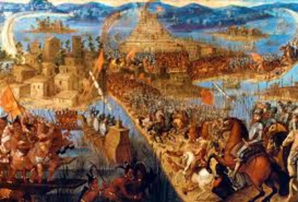 Conquistadores at Tenochtitlan