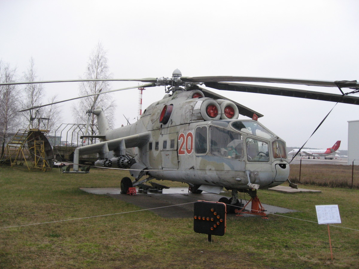 The original Mil Mi-24 is very different from later models. Note the cockpit configuration.