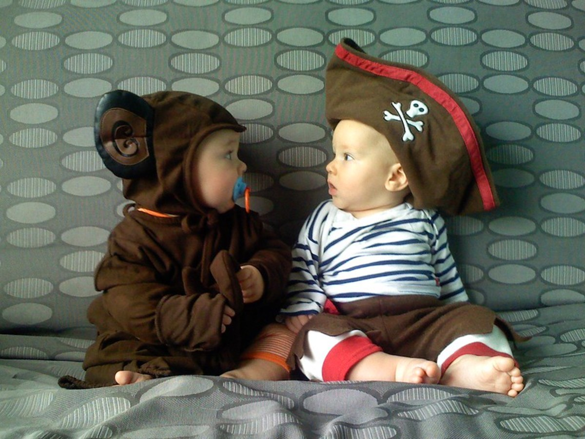 Baby Monkey and Pirate Costumes