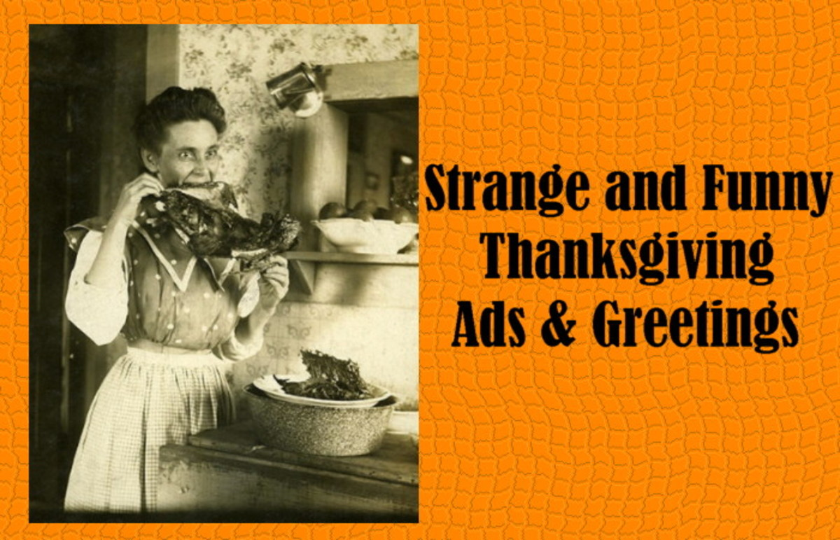 Strange and Funny Thanksgiving Ads and Greetings