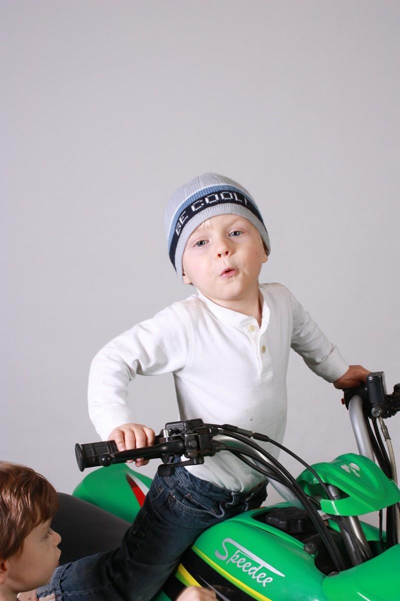 Kid on ATV