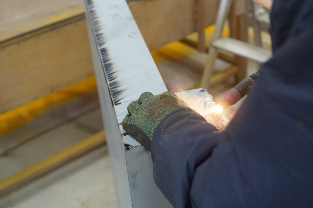 welding and joining two shipping containers together