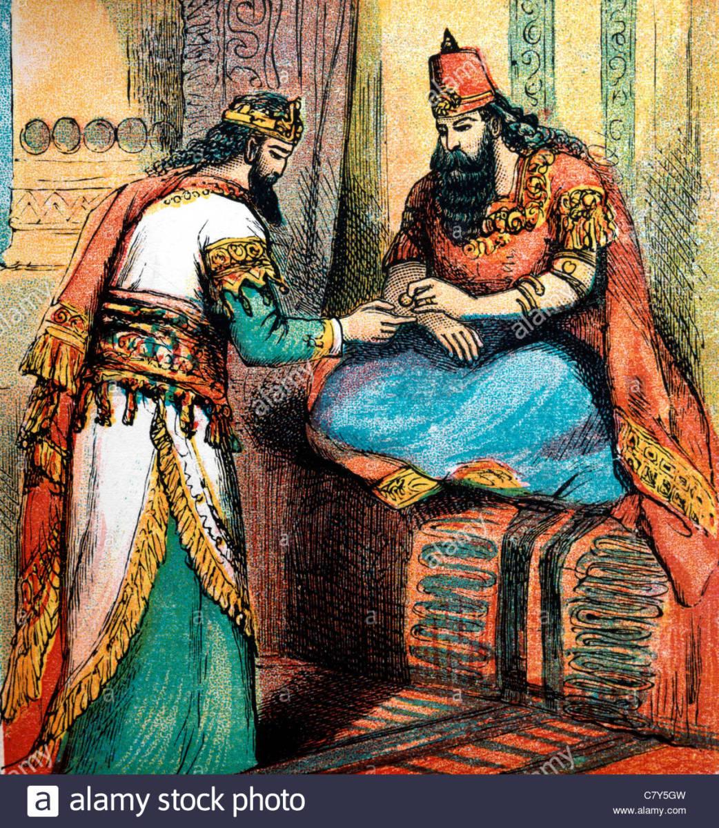 Hamman receiving seal from King