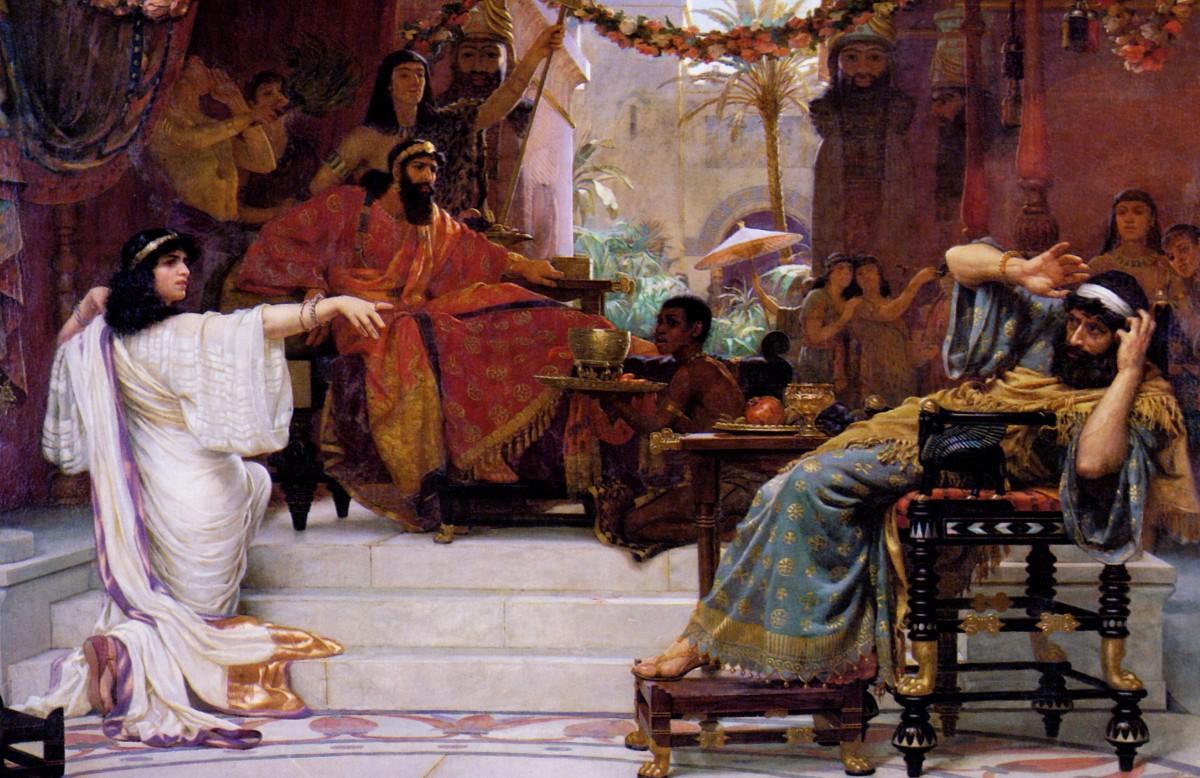 Esther denouncing Hamman