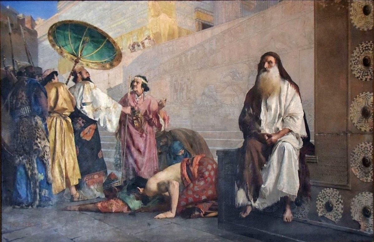 Hamman being bowed to except Mordechai