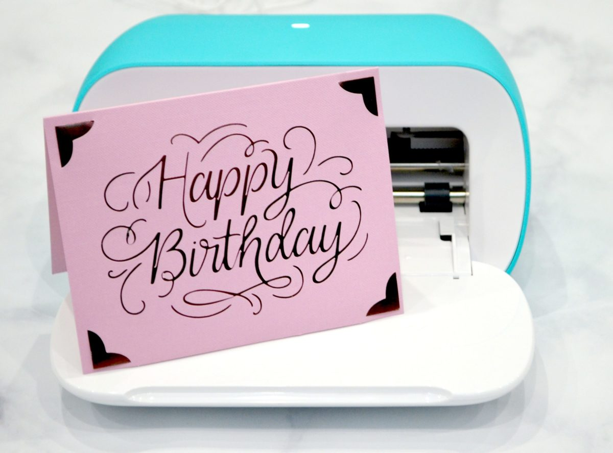 Greeting cards can be made in a matter of minutes with the Cricut Joy