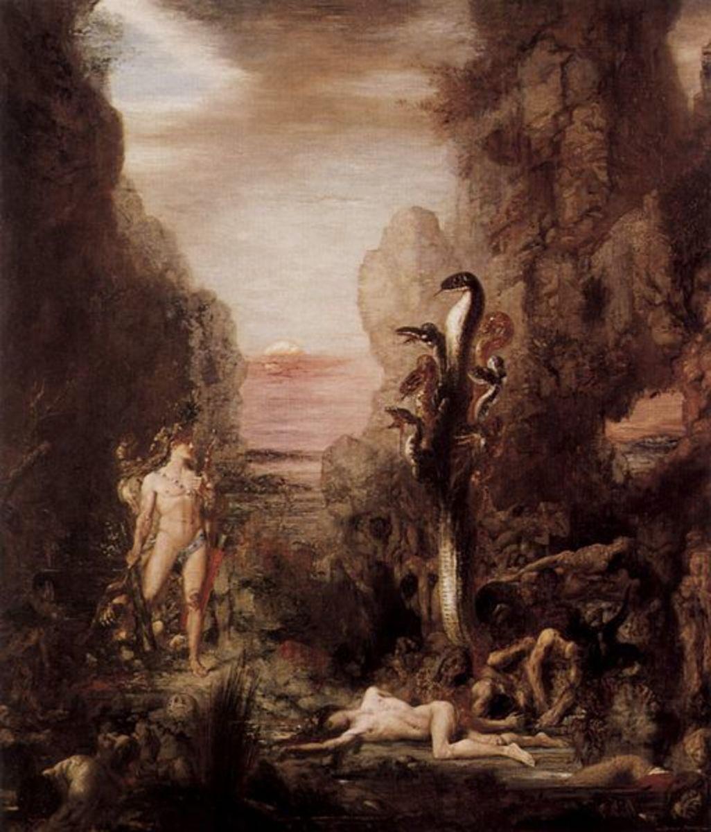 Hercule et l'Hydre de Lerne, Gustave Moreau, 1876