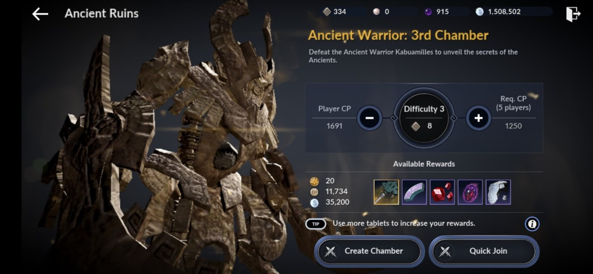 "Ancient Ruins in ""Black Desert Online Mobile"""