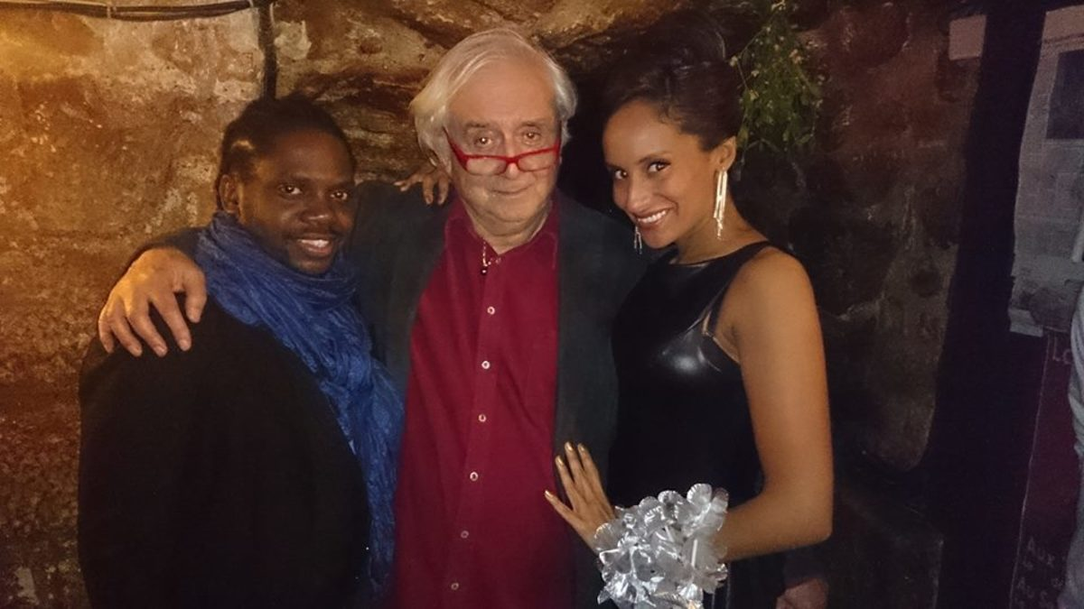 Trois Mailletz owner/director Jacques Boni with his recent singers Pascal Toussaint and Jenni Jade Ledesna.