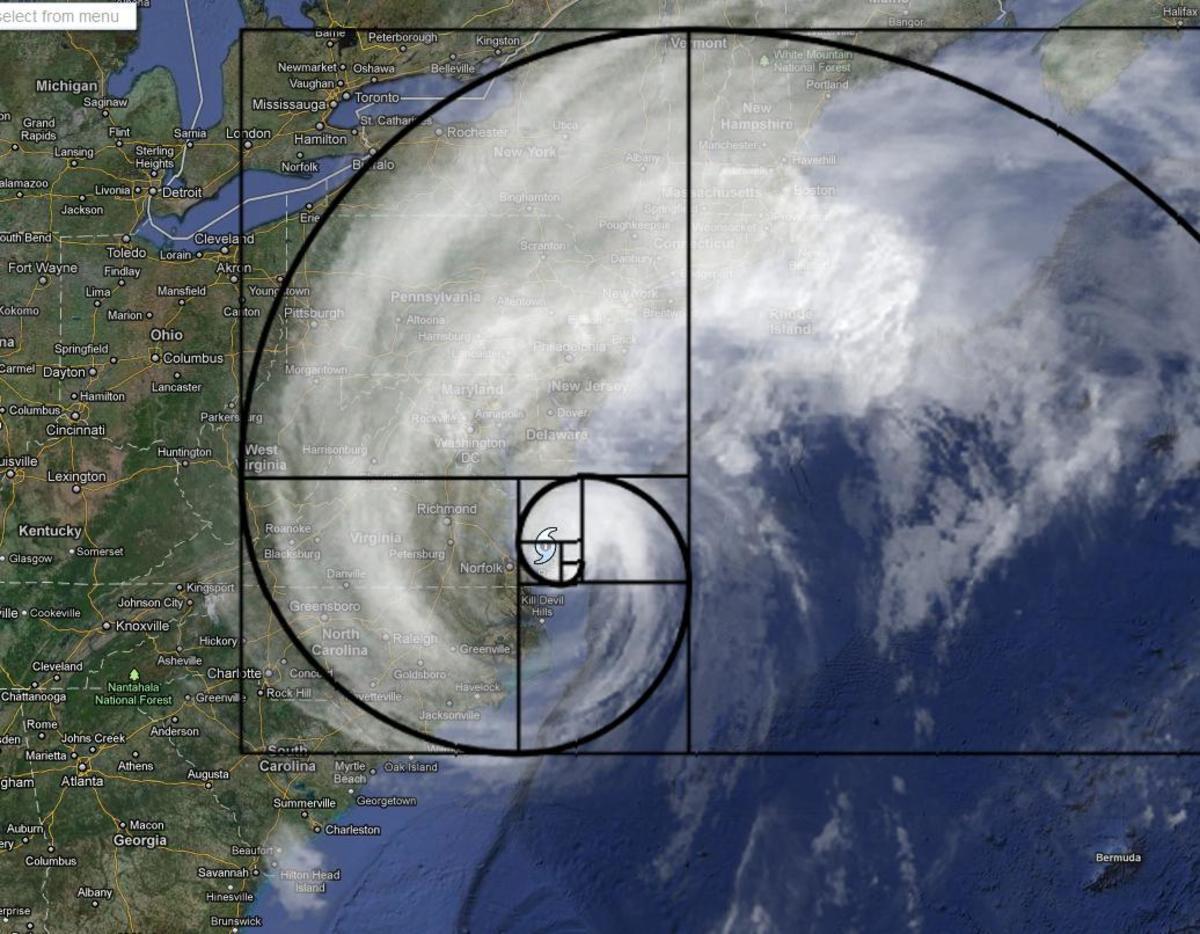 Fibonacci Spiral in Hurricane