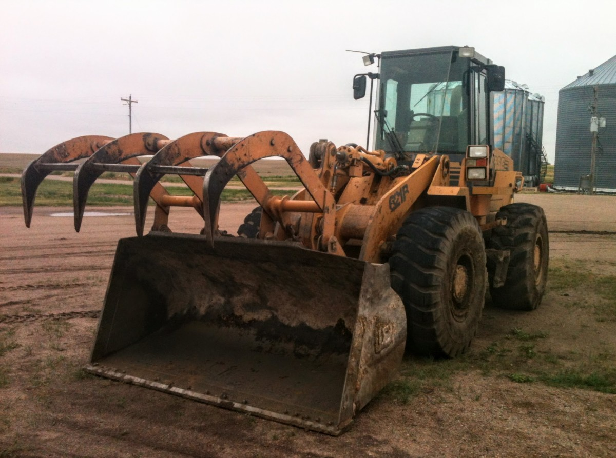 Our crew was fortunate to have at hand good earth moving equipment, such as this loader.