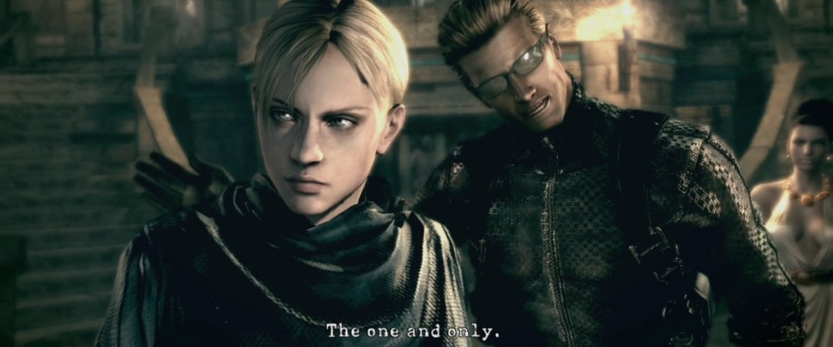 Wesker using Jill against her former Partner Chris