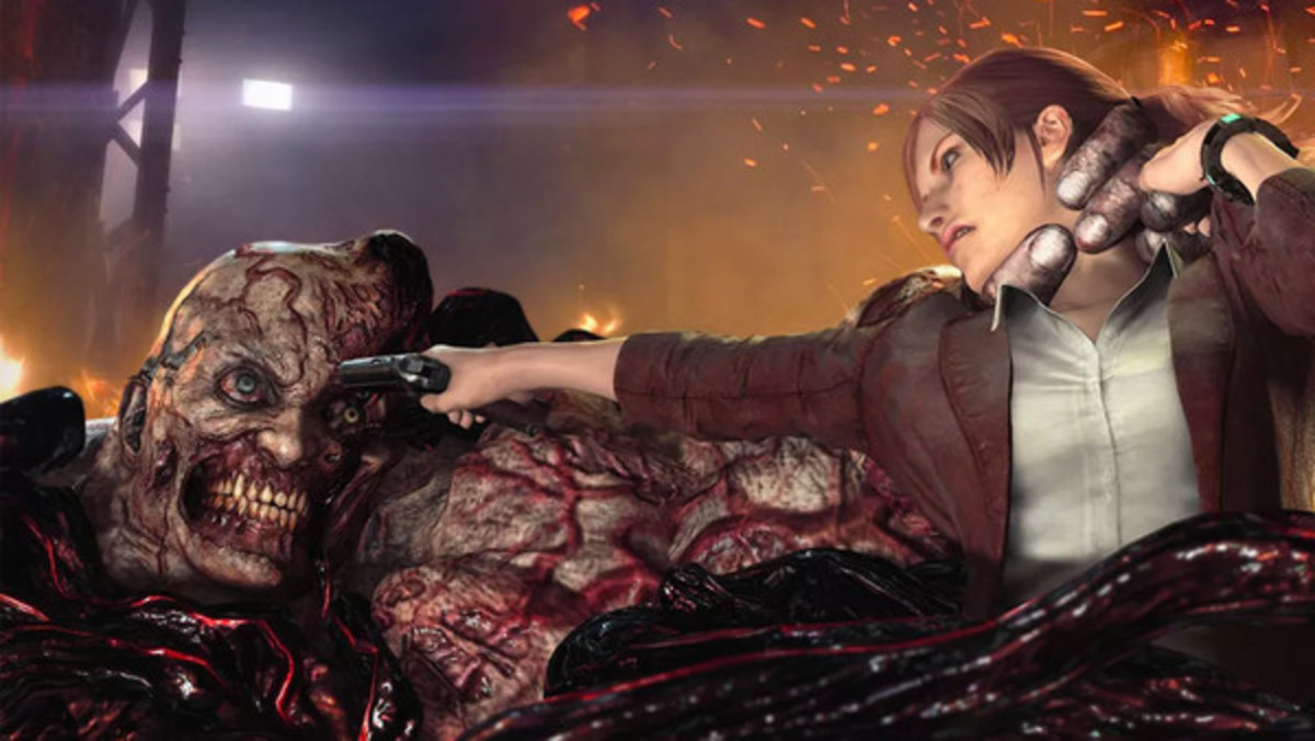 Claire being a total badass in Revelations 2