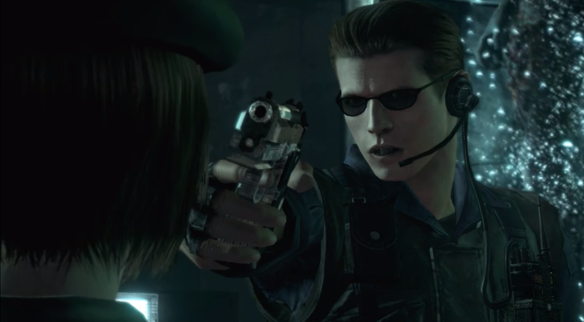 Wesker betraying his team