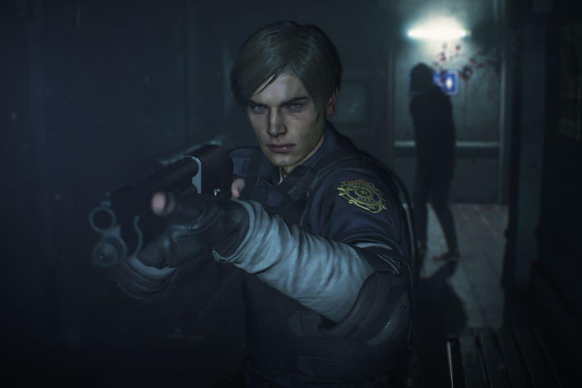 Leon in Resident Evil 2
