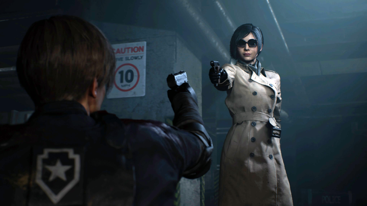 Ada confronting Leon in Racoon City