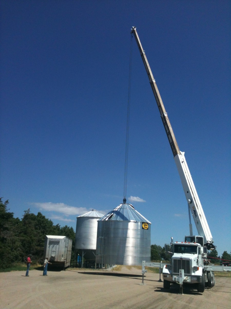 Cranes can be expensive to hire, but are usually fast and efficient.