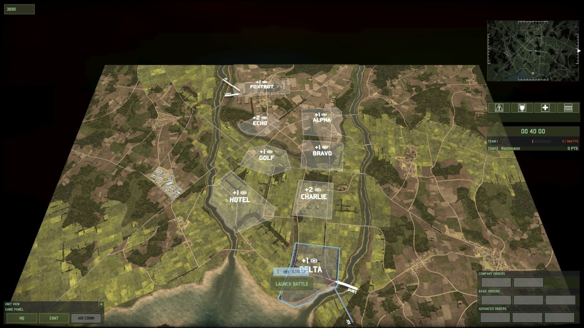 If you play Wargame: Red Dragon, you will recognize that Paddyfield 1v1 is just Paddyfield 3v1 but flipped on its side and with the command zones rearranged.