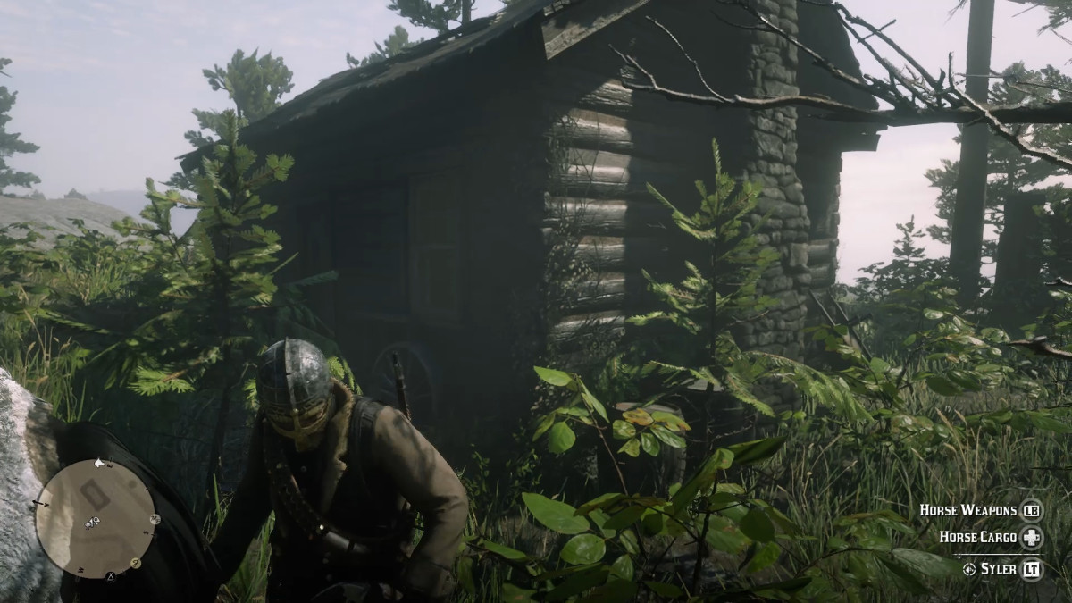 The cabin close to the Rusted Hunter Hatchet.