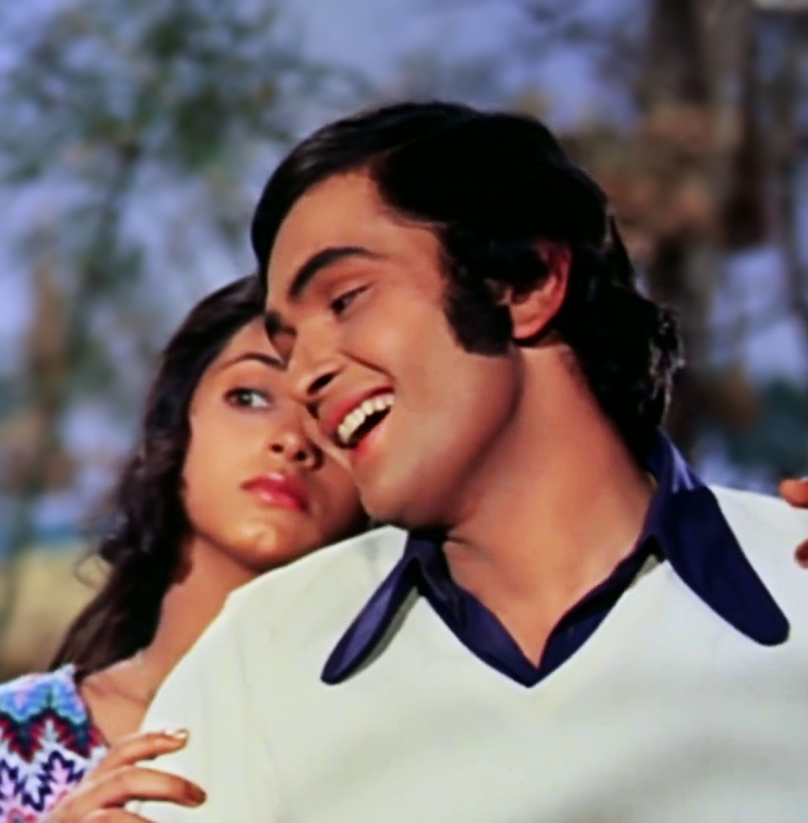 "Rishi Kapoor & Dimple Kapadi in 'Hum tum ek kamre mein.."" from BOBBY (1973), a movie can marked a change of generation across India."