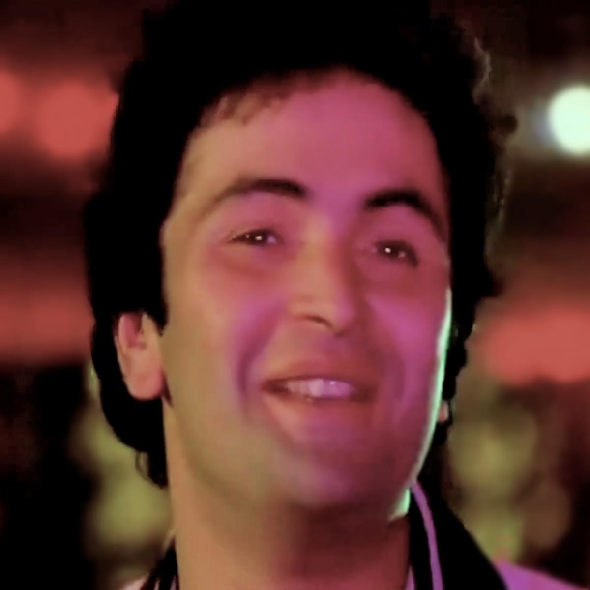 """Rishi Kapoor in """"Bolo bolo kuchh to bolo.."""" from ZAMANE KO DIKHANA HAI (1981)."""