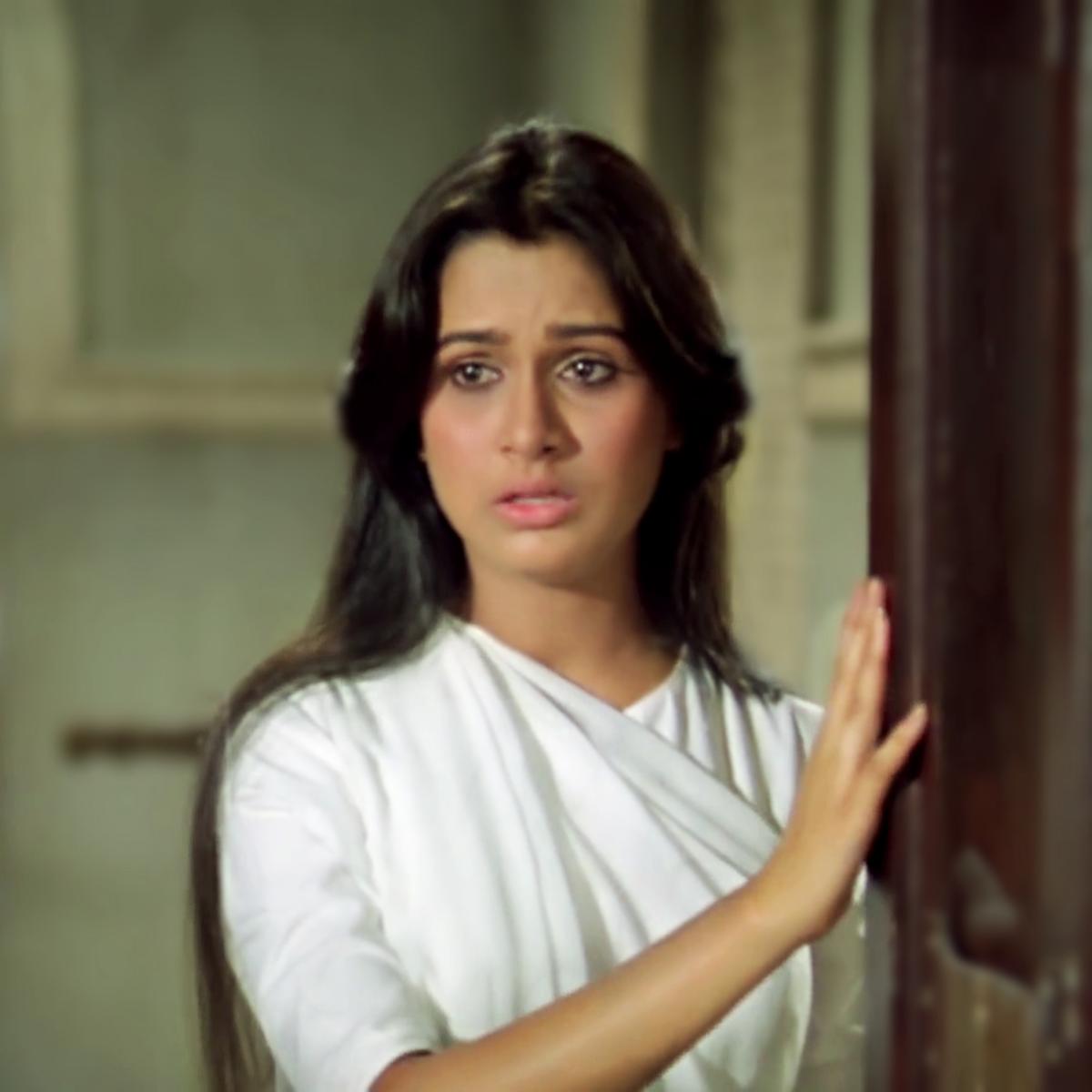"Padmini Kolhapure in ""Meri kismat mein tu nahin shayad.."" from PREM ROG (1982), a milestone movie in her career, with Rishi Kapoor."