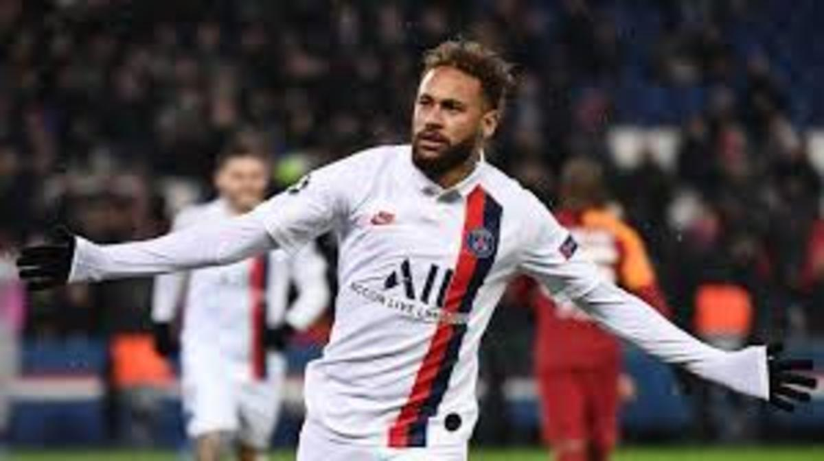 Neymar celebrating a goal