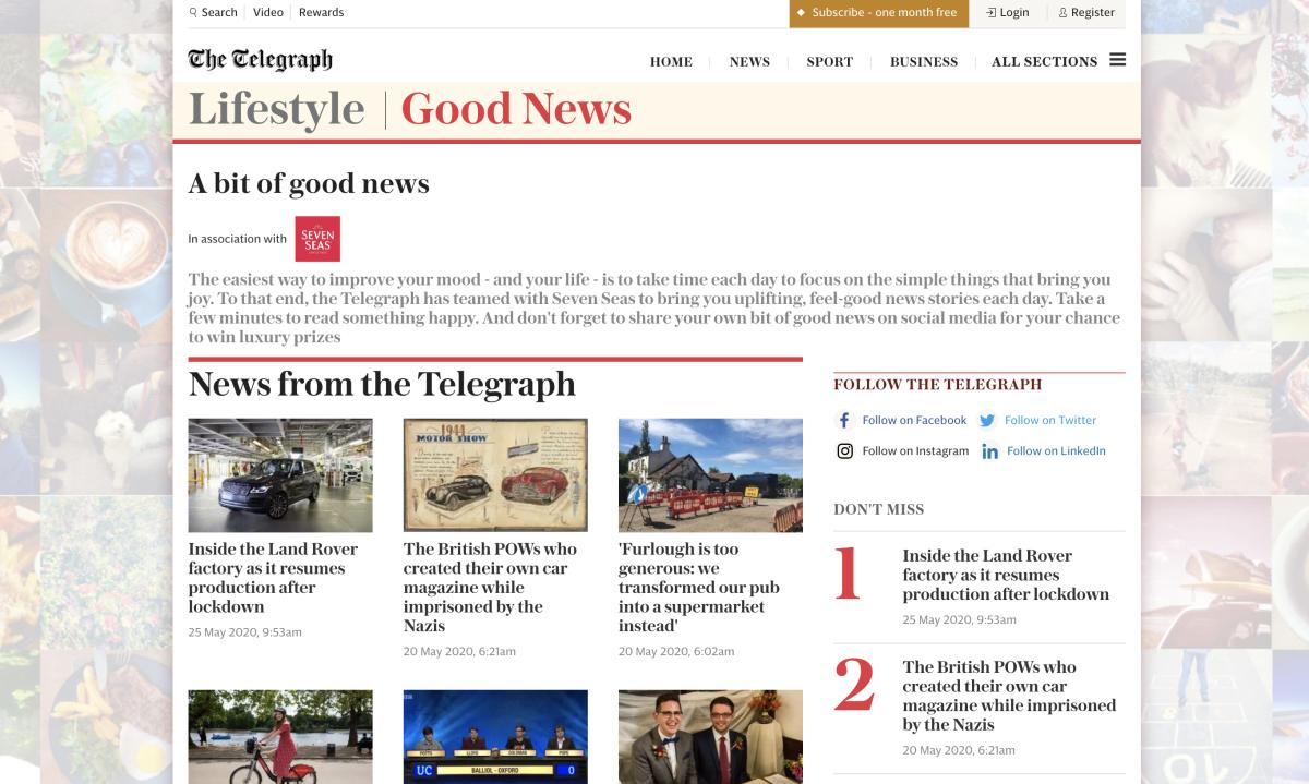 Seven Seas and The Telegraph