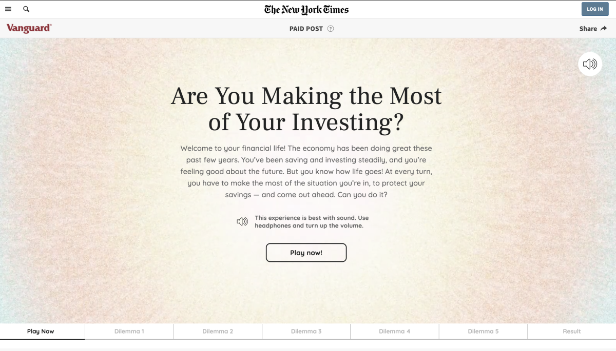 Vanguard and The New York Times