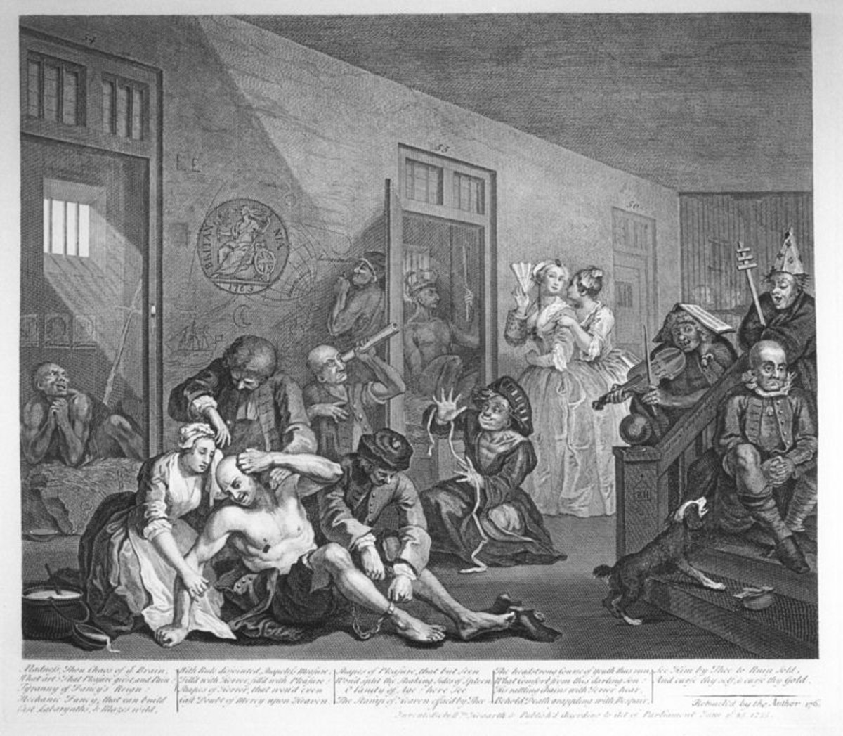 """The Hospital of St. Mary of Bethlehem was established in London in 1247 as a hospice. It later became the Hospital of Bethlem. Eventually known as Bedlam. The patients were known as """"lunatics."""" Public Domain,"""